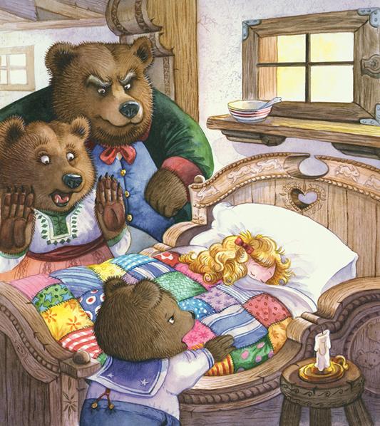 """Goldilocks and the Three Bears"" - ""Златовласка и три медведя"". Мультфильм на английском языке"