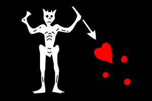 Official Pirate Flag of Blackbeard
