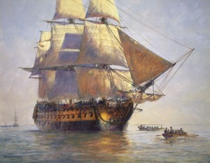 Painting of Queen Anne's Revenge